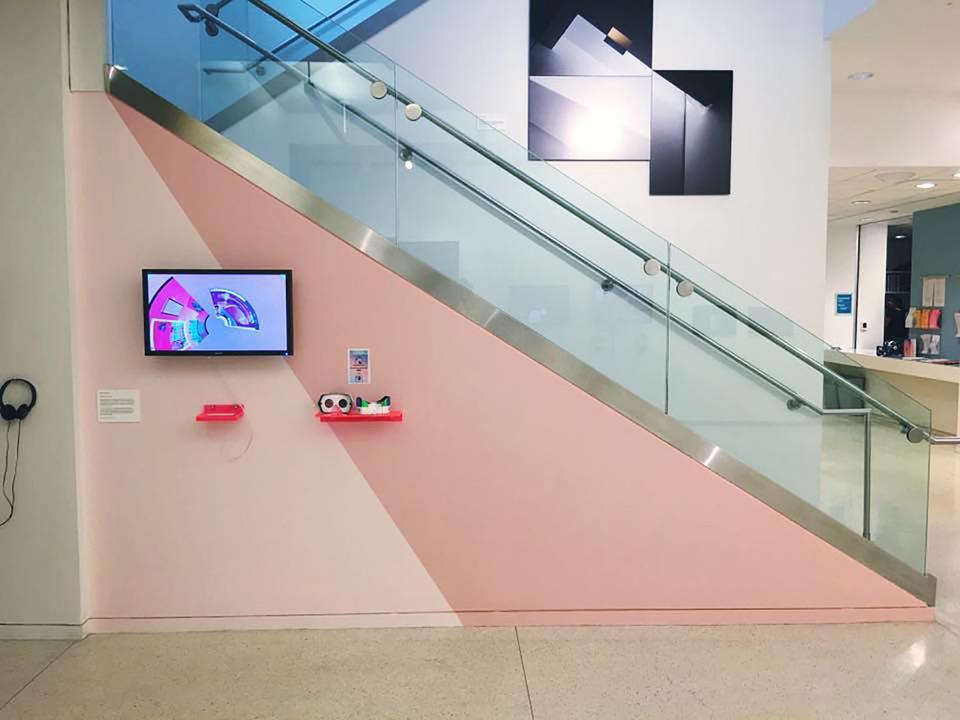 Installation Shot of Create/Consume by Evan Cisneros