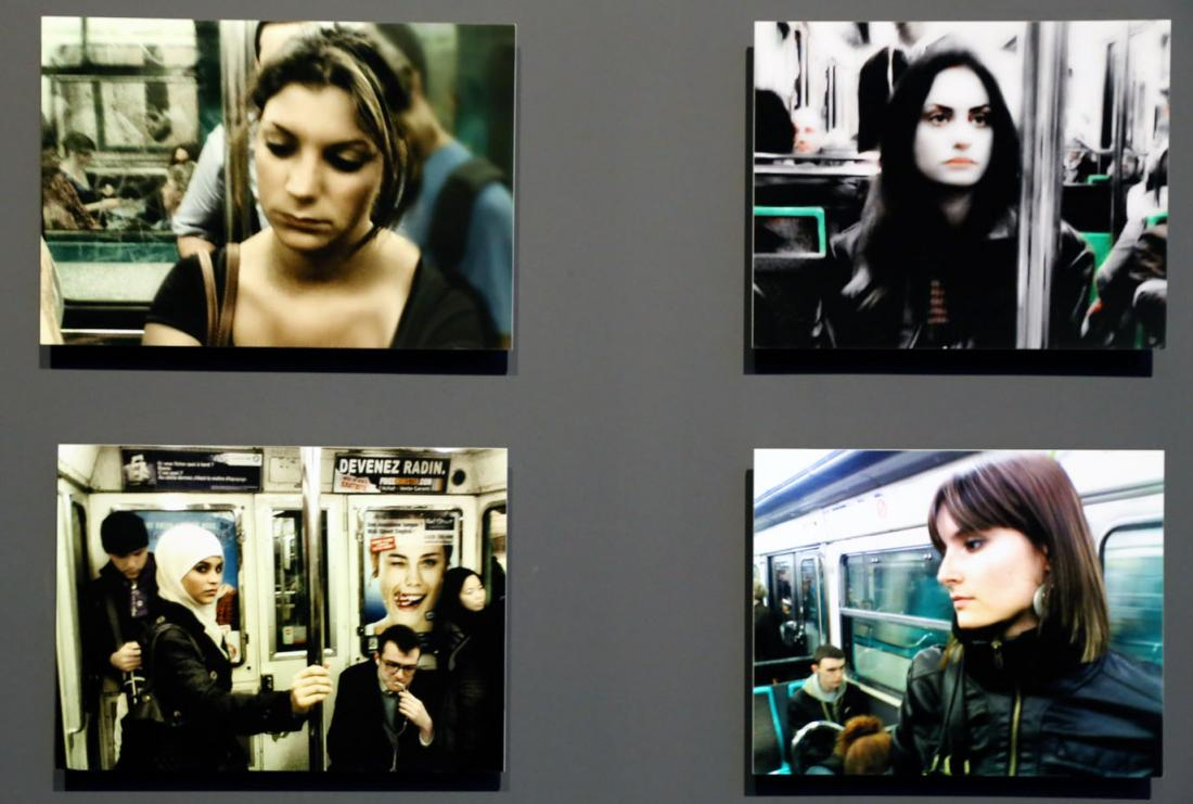 Photographs by Chris Marker (1921-2012) of people on the Paris Metro.