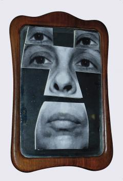 Geta Brătescu, Autoportret în oglindă [Self-Portrait in the Mirror], 2001. © Geta Brătescu, Courtesy the artist; Ivan Gallery, Bucharest; Hauser & Wirth. Photo: Ștefan Sava.