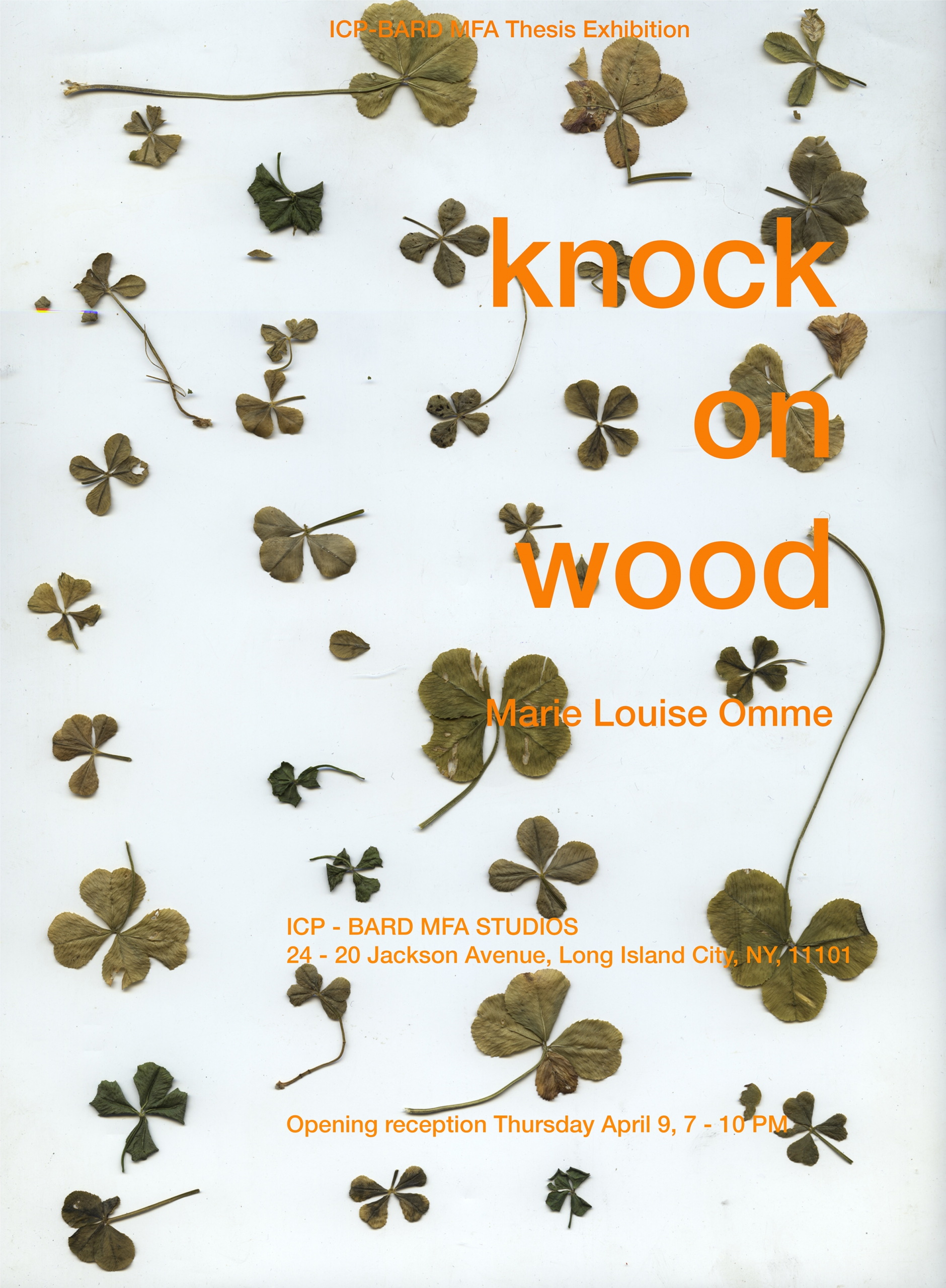 Marie Louise Omme, Knock on Wood