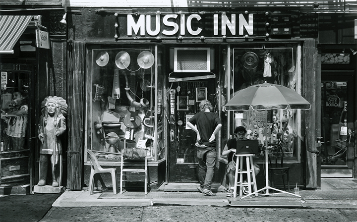 Ray Germann. Musician, Bleeker Street. Courtesy of the New York Historical Society.