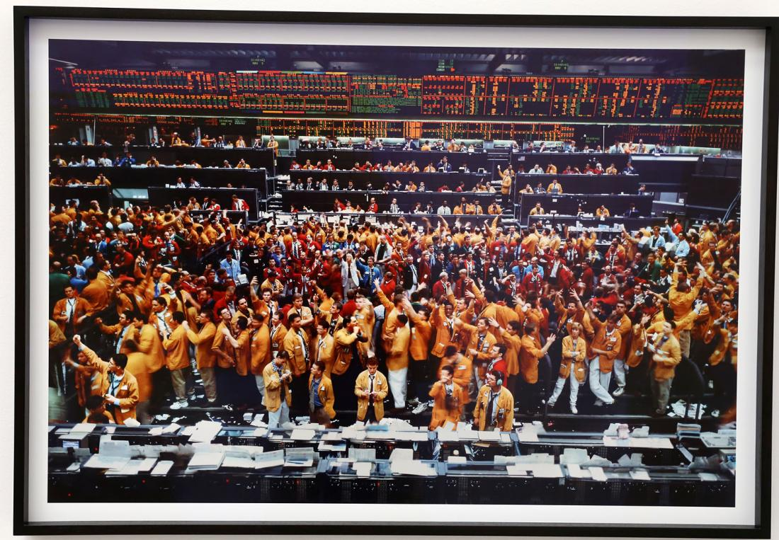 Andreas Gursky. Chicago Mercantile Exchange, 1997. Installation at the 2015 Venice Art Biennale.