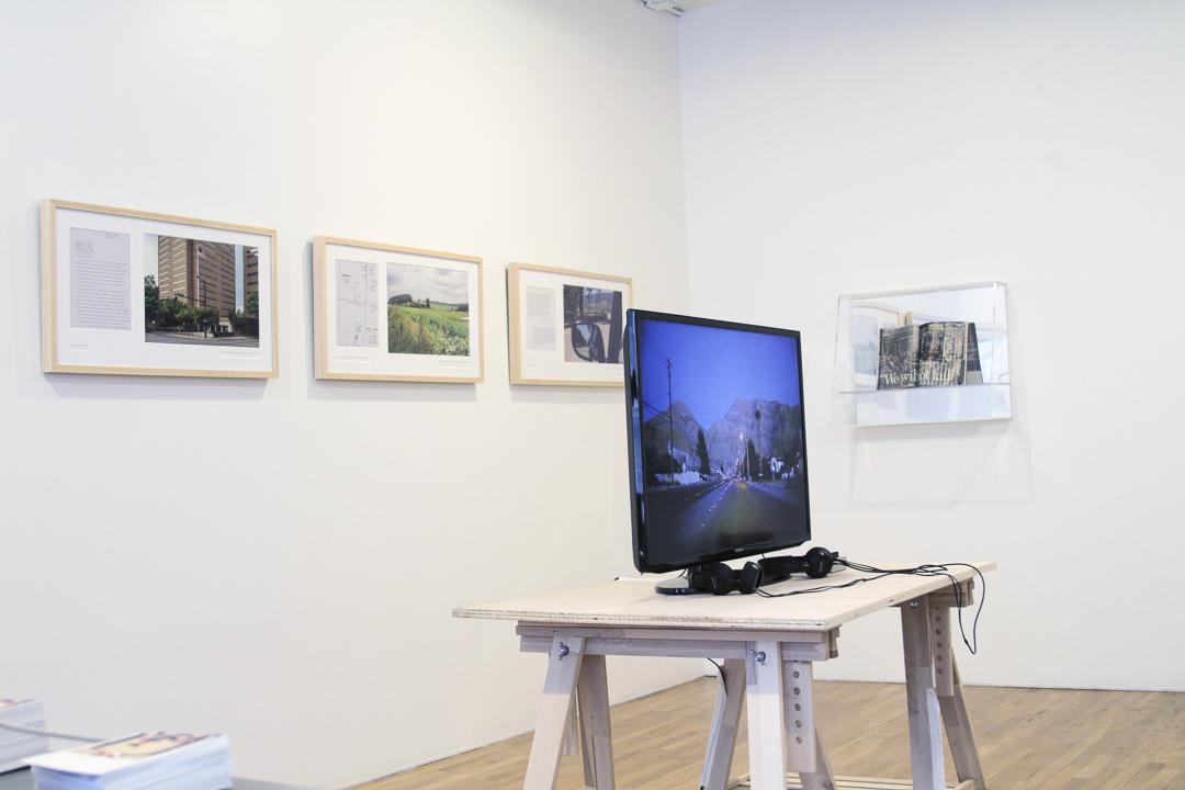 Exhibition still from: I see in the sea nothing except the sea. I don't see a shore. 2014
