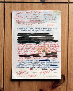 Edmund Clark, Original, hand-censored letter to a detainee from his daughter, from the series Guantanamo: If the Light Goes Out, 2009. © Edmund Clark