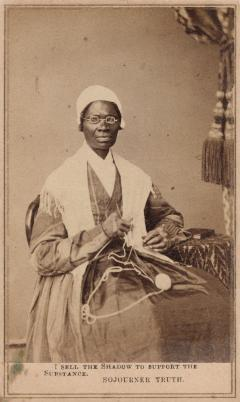 Unidentified Photographer, I Sell the Shadow to Support the Substance. Sojourner Truth, 1864. International Center of Photography, Purchase, with funds provided by the ICP Acquisitions Committee, 2003 (182.2003